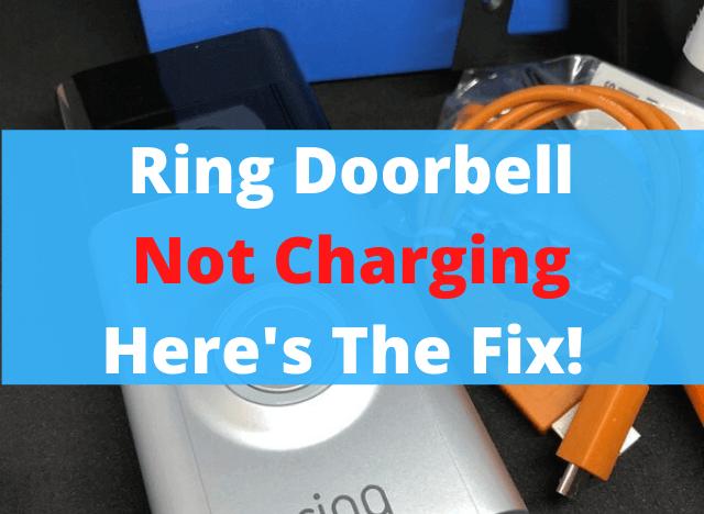 04 Ring Doorbell Not Charging