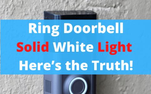 12 Ring Doorbell Solid White Light