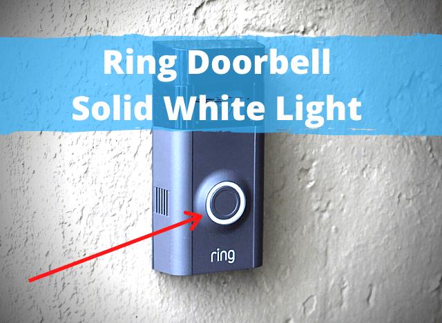 13 Ring Doorbell Solid White Light new