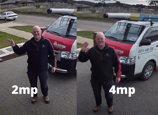 2MP vs 4MP Security Camera
