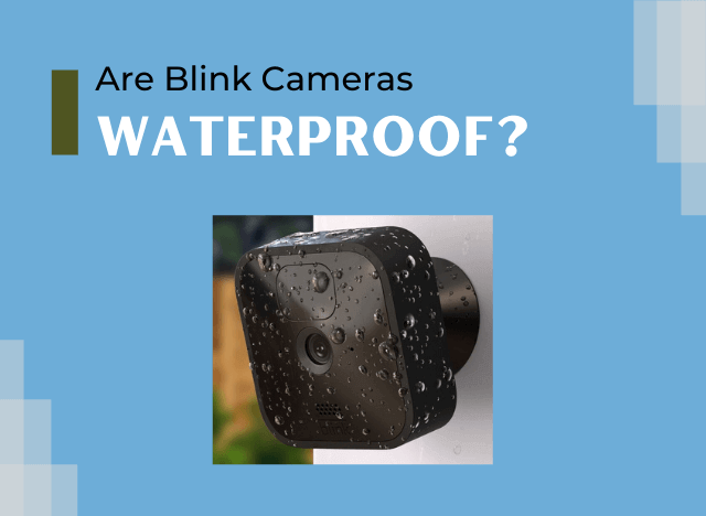 Are Blink Cameras Waterproof