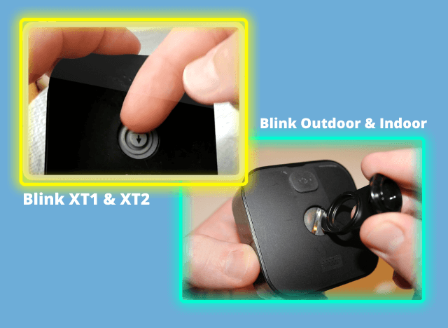 open the Blink camera according to model